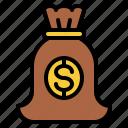 bag, lifestyle, money, rich icon