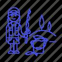 2, bucket, female, fisherman, fishing, lifestyle, rod, sport, trip icon