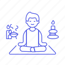 1, aromatherapy, balance, candle, lifestyle, male, meditation, relaxation, spa, stone, zen icon