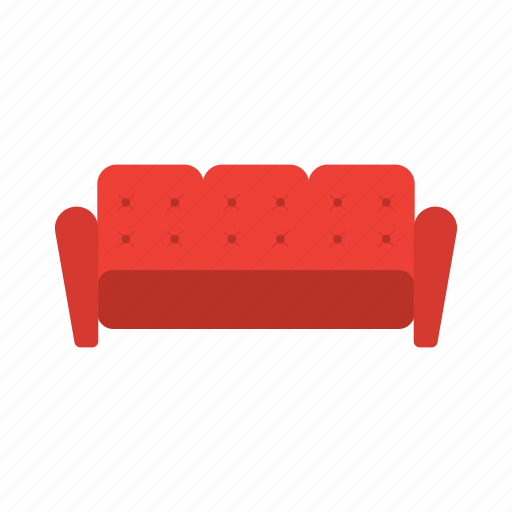 couch, divan, lounge, relax, settee, sofa icon