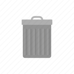 bin, delete, garbage, rubbish, trash, trash can, waste icon