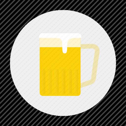 ale, beer, cup, mug of beer, pint, pot, tankard icon