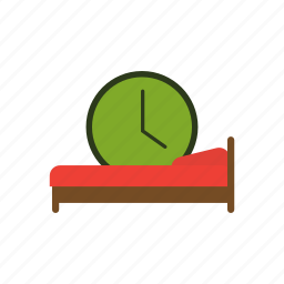 bed, cot, dream, sleep, sleeping, slumber, time icon