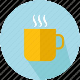 chocolate, coffee, coffee cup, food, hot drink, mug, tea cup icon
