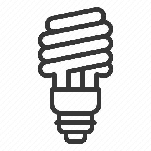 bright, bulb, electric, light, spiral bulb icon