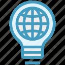 bulb, energy, globe, idea, light, light bulb, world