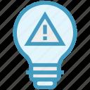 bulb, danger, energy, idea, light, light bulb, warning