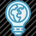 bulb, earth, energy, idea, light, light bulb, world
