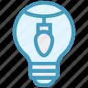 bulb, decoration, energy, idea, light, light bulb, party