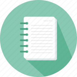 interface, note, notebook, notepad, tool, writing icon