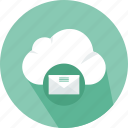 cloud, computing, data, download, electronics, file, mail, storage, technology icon