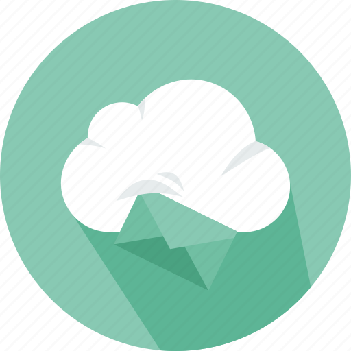 cloud, computing, data, download, mail, storage, technology icon