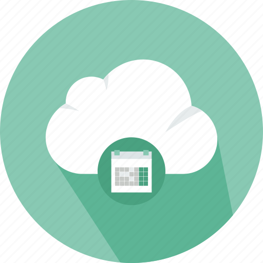 calendar, cloud, download, email, file, mail, storage icon