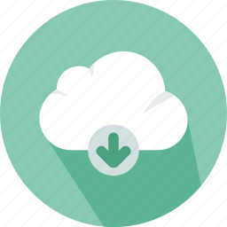 cloud, computing, download, file, storage, technology icon