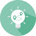 bulb, idea, illumination, light, location, map, plan icon