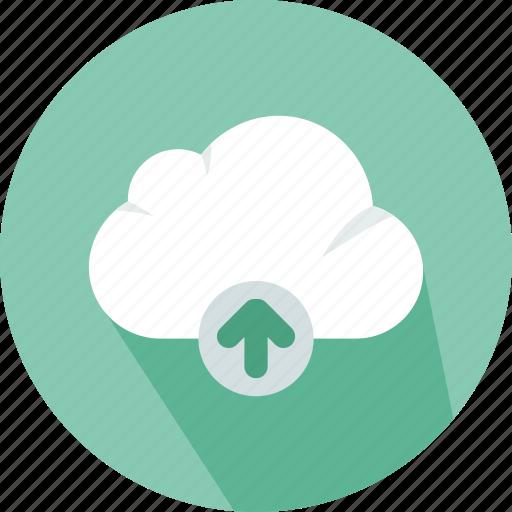 cloud, data, electronics, file, storage, technology, upload icon