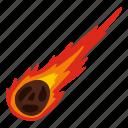 asteroid, explosion, impact, meteor, meteorite, moon, rocks icon