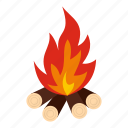 blaze, blazing, bonfire, bright, burn, camp, night icon