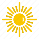 cool, glare, heat, hot, sun, sunshine, weather icon
