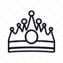 achievement, award, casino, crown, game, prince, royalty icon