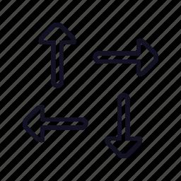 arrows, cursor, cursor-h-split, left, right, split, up icon