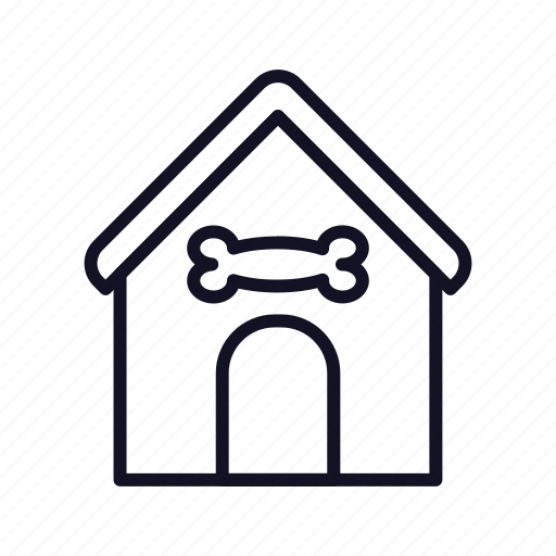 building, doggy, doghouse, guard-home, house, household, property icon