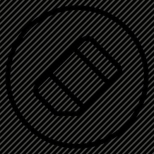 creative, eraser, line, remove, rub, rubber icon