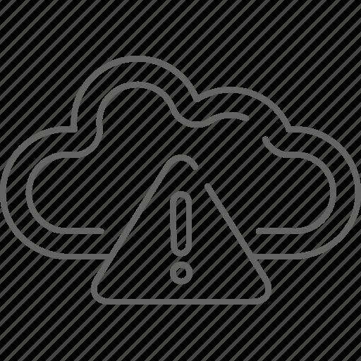 alert, cloud, communication, guardar, save, share, warning icon