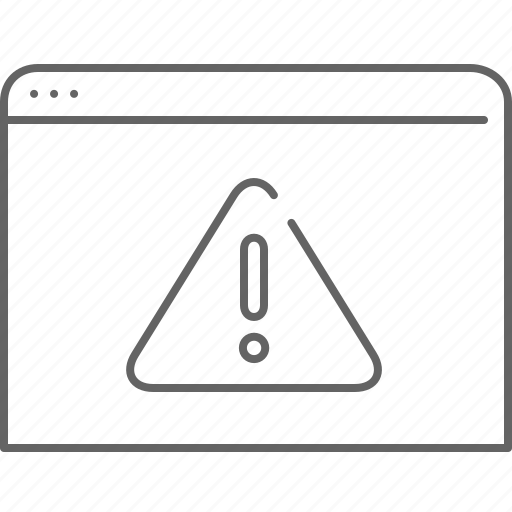 alert, browser, communication, internet, warning, window icon