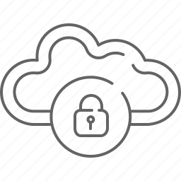 cloud, communication, internet, lock, privacy, save, share icon