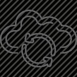 arrows, cloud, communication, guardar, internet, refresh, save, share icon