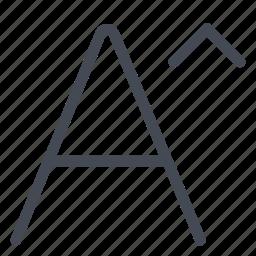 font, increase, option, size icon