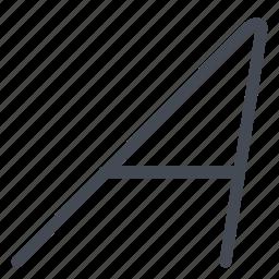 font, italic, mode, option, text icon