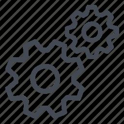cogwheel, complex, gears, link, mechanic, mechanism, settings icon