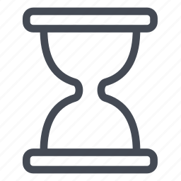 flow, glass, hourglass, hours, sand, time icon