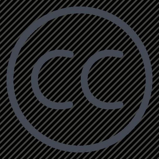 cc, commons, creative, legal icon