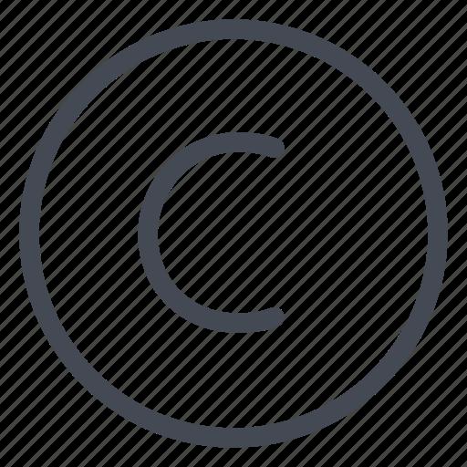 copyright, legal icon