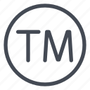 legal, trademark icon