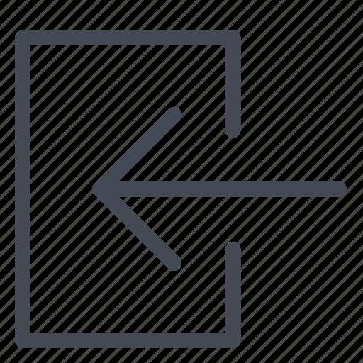 arrow, connection, door, login, password, user, username icon