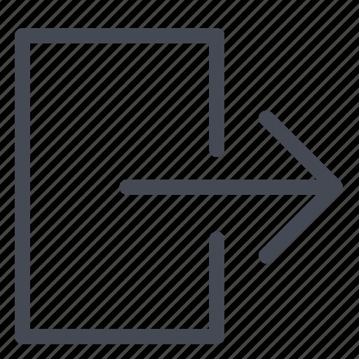arrow, disconnected, disconnection, door, logout, user icon