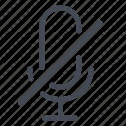 microphone, no, off, radio, speak icon