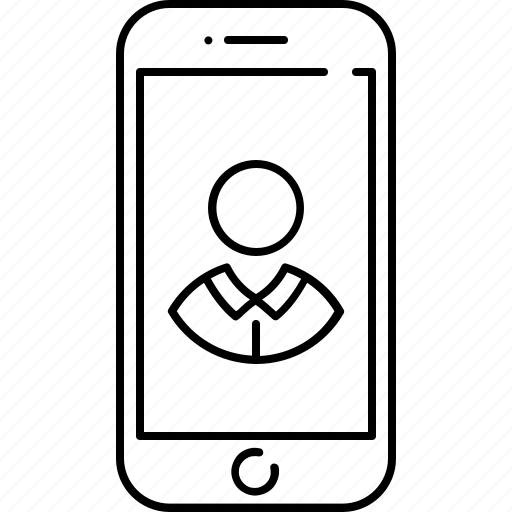 contact, device, image, phone, picture, profile, smart icon