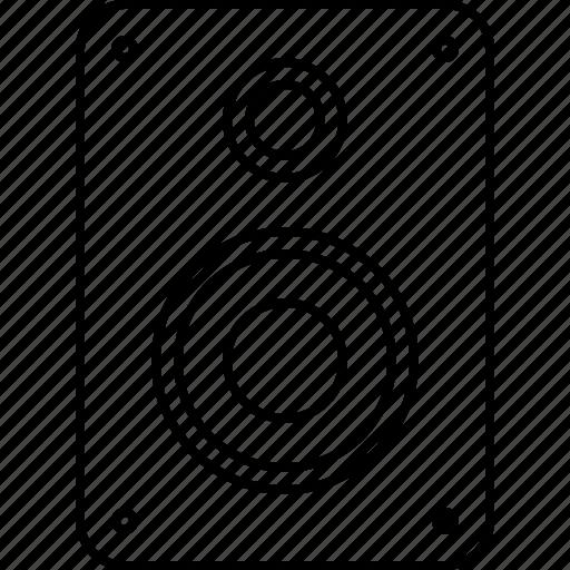 audio, device, music, sound, speaker, video icon