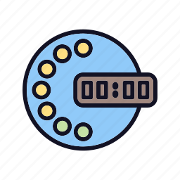clock, event, interface, stopwatch, timepiece, wait, wall icon