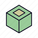 boox, creative, cube, design, dice, puzzle, square icon