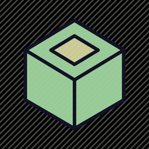 boox, creative, cube, design, dice, puzzle, square icon