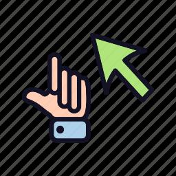 arrow, back, cursor, cursor-drag-arrow, drag, next, pointer-&-arrow icon