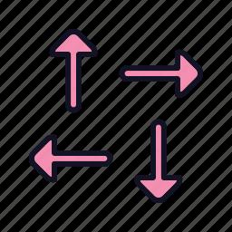 arrows, cursor, cursor-h-split, left, navigation, right, split icon