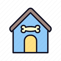 building doggy, doghouse, guard-home, house, household, property, villa icon