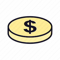 banking, coin, currency, dollar, dollar-coin, price, sale icon